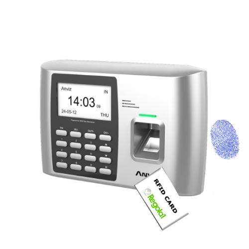A300MF: biometrico, Mifare e codice PIN (Privacy).