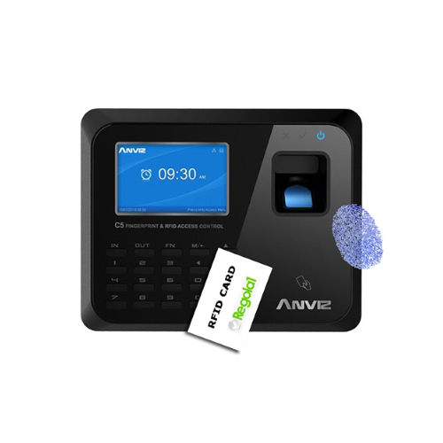 Anviz, C5: biometrico, RFID e codice PIN. Web server integrato.