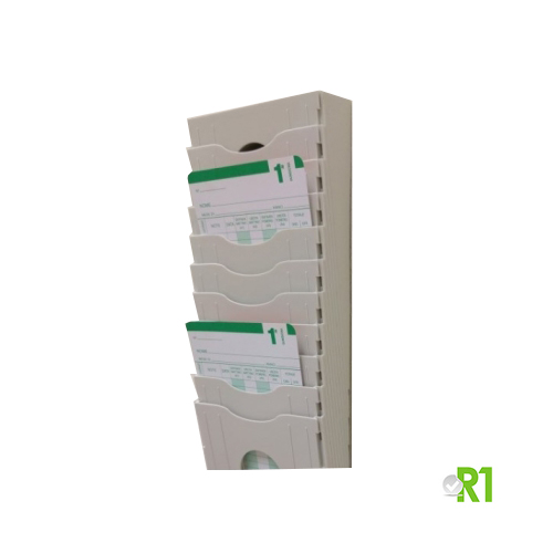 CAS.15PM-AG: Card rack for monthly time cards 15 pockets (additional module).