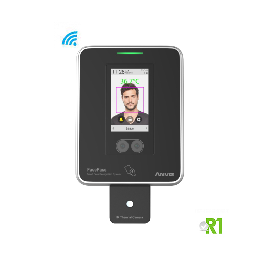 FACEPASS 7 IRT: Body temperature thermoscanner (forehead), facial recognition, card, Wi-fi.