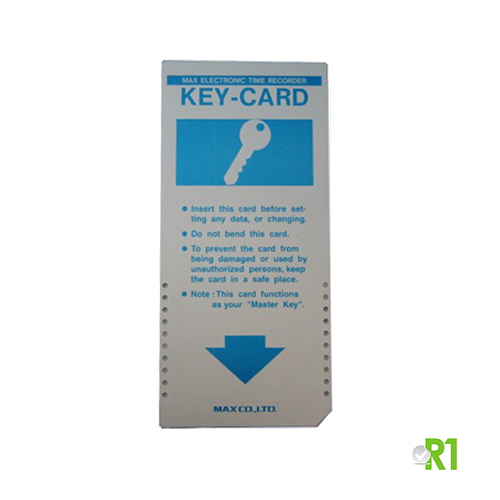 KEYCARD: MAX line electronic time recorders programming