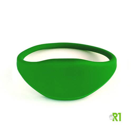 MF4TG-BRG: N.50 Key fob wristband Mifare 4k, bracelet 60 mm. green colour € 1.85 each