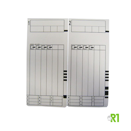MRX300-100: N.100 fortnightly cards for the electronic time recorder MX300