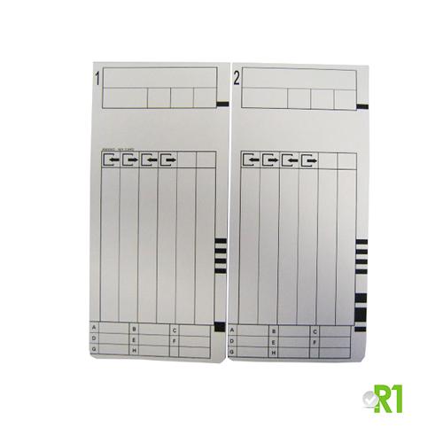 MRX300-100: N.100 cartellini quindicinali timbracartellino MX300