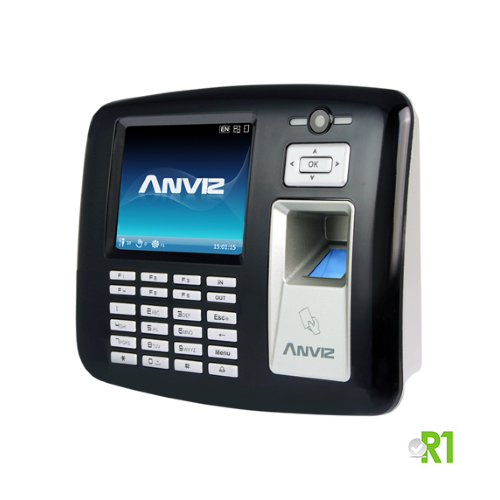 Anviz, OA1000: Biometric, RFID  and/or PIN code, photo camera and WinCE.