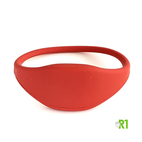 RFTG-BRR: N.50 Tag RFID braccialetto 60 mm. colore rosso € 0,86 cad.