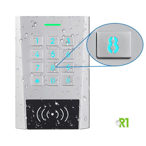 Secukey, RXK3-BT: RFID and PIN, Bluetooth APP, IP66.