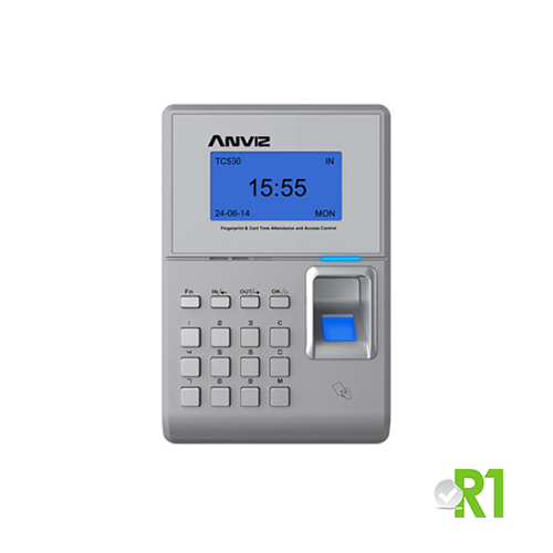 Anviz, TC530: biometrico, RFID e codice PIN.