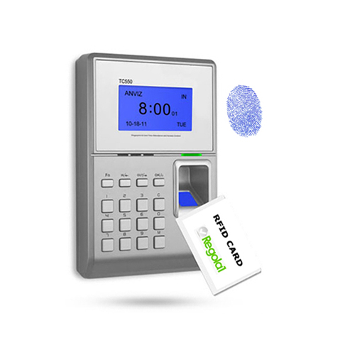 TC550: biometrico, RFID e codice PIN.