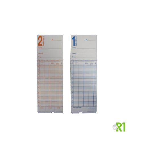 TR200-220-100: N.100 Cartellini TR200-220 per timbracartellini mod. TR200 TR220