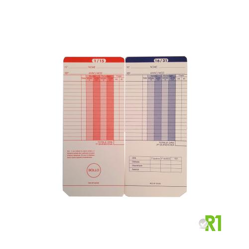 UT2000-100: N.100 Cartellini UT2000 BP200/300 per timbracartellini mod. UT2000