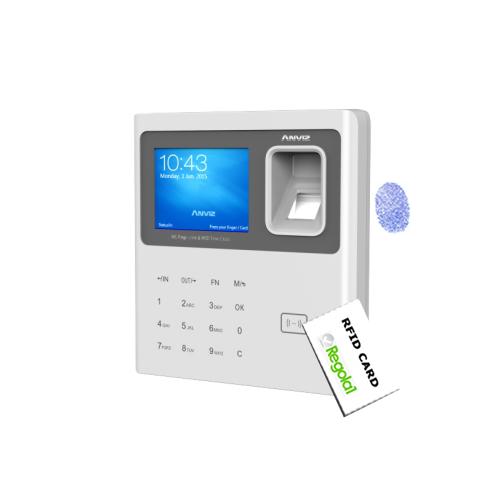 Anviz, W1-ID: Biometric, RFID, PIN code, wi-fi, Linux OS.
