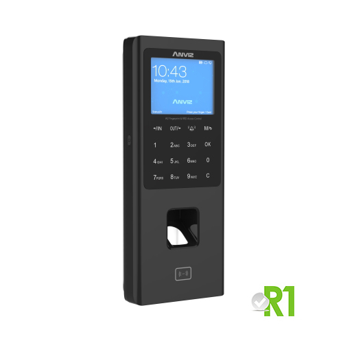 Anviz, W2 Pro WIFI: biometric device, RFID, PIN code, Linux, Tcp / Ip, Wi-fi, and Relay.