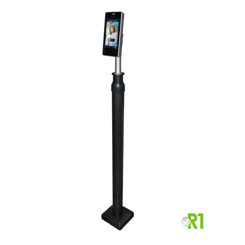 WH5001-S: Thermal Scanner + Floor Stand, Body Temperature (forehead), Mask and Face.